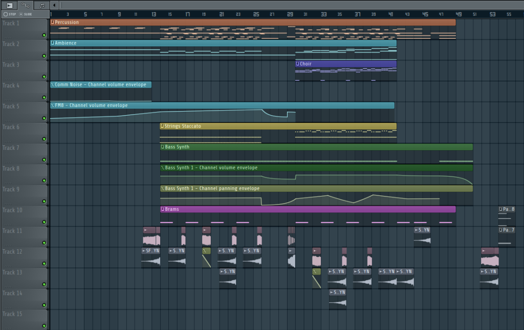 The final project file for this song... lots of risers!
